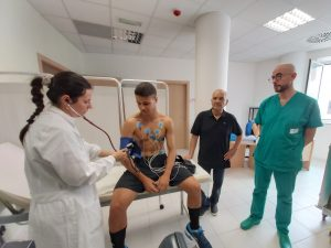 """Il Benevento Calcio negli ambulatori ASRE Molise - UniMol del Polo didattico di Medicina e Chirurgia del Presidio ospedaliero """"Cardarelli"""" di Campobasso"""