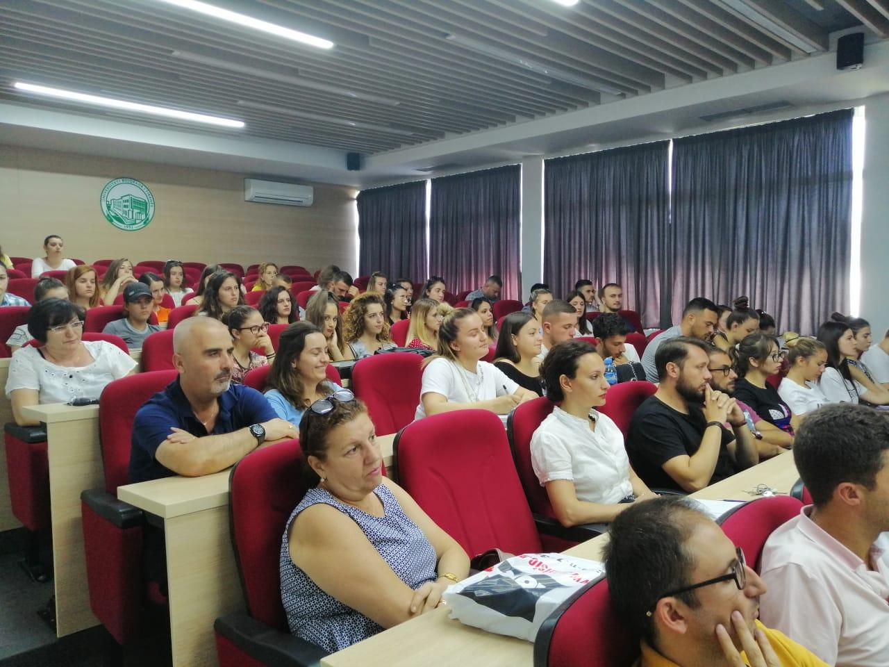 Un momento di un'attività seminariale organizzata presso la Agricultural University of Tirana