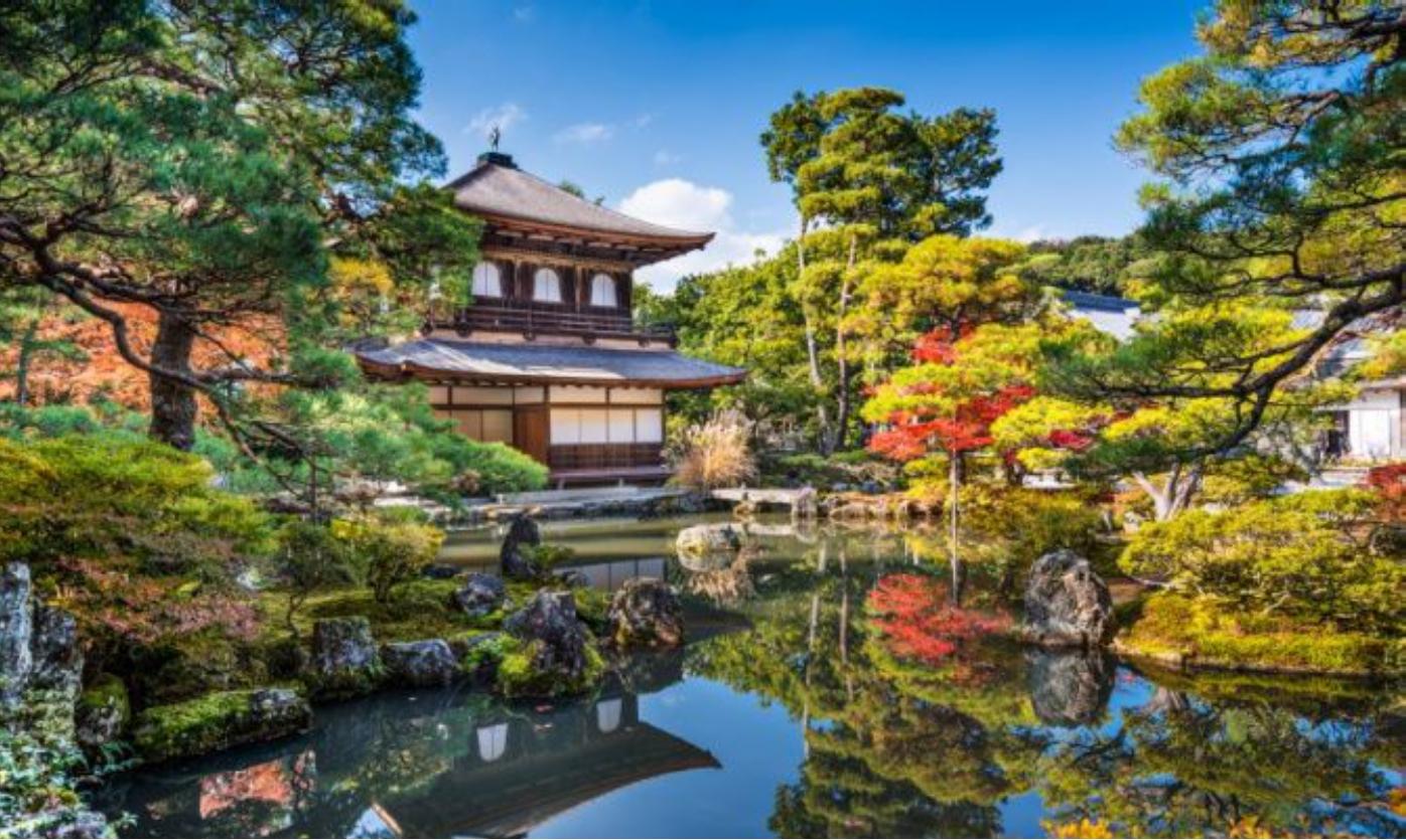 Il Ginkaku-ji - uno dei templi buddisti più noti della antica città giapponese